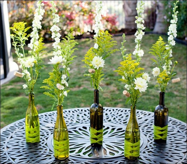 Decor Ideas with Recycled Glass Bottles