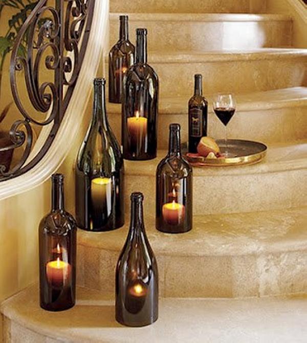 Glass Bottles Decor Art