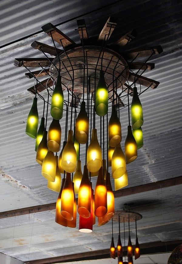 Glass Bottles Lighting Ideas