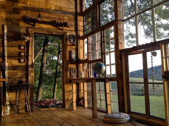Glass Cabin From Recycled Old Wood Windows Upcycle Art