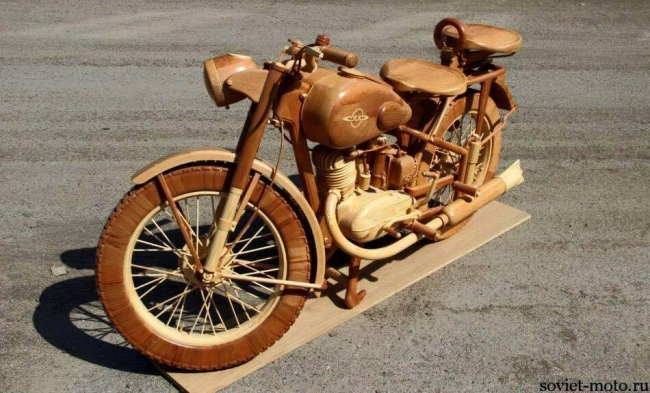 Hand Carved Motorcycle