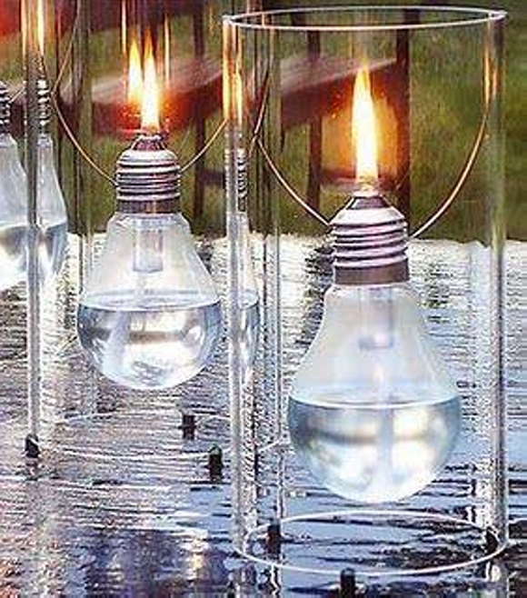 Light Bulb Recycled Candles