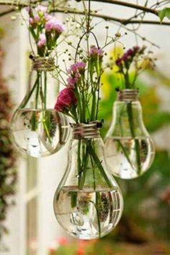 Light Bulb Recycled Planters