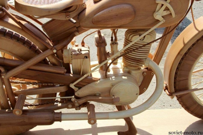 Motorcycle Wood Art