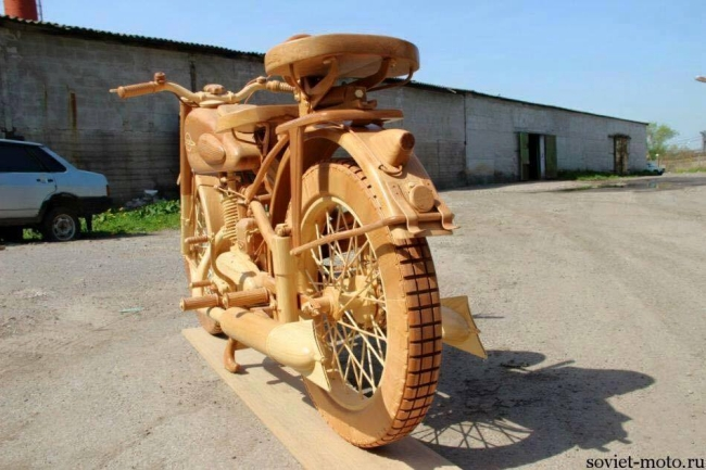 Motorcycle Woodcarving