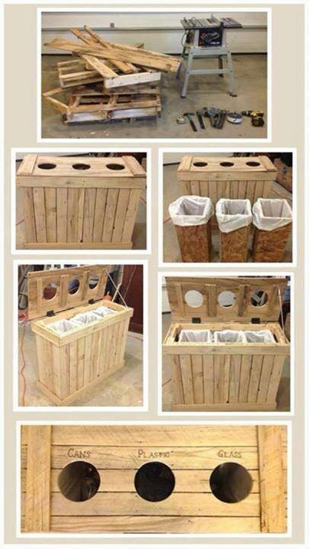 Pallet Trash Can