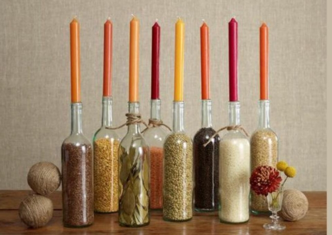 Recycled Bottles Candles