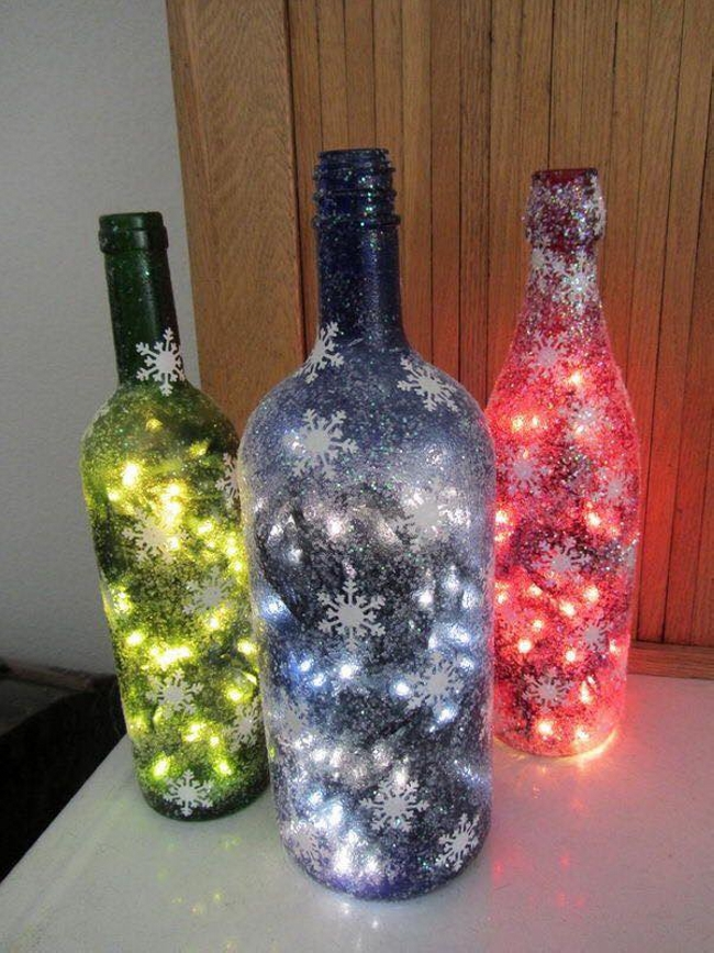 glass bottle projects Easy project idea: how to make glass bottle candle holders  fill each bottle  with water to about 1 inch below the top adhere the copper coupling to the   projects handmade holiday: 14 diy origami ornaments wellness.