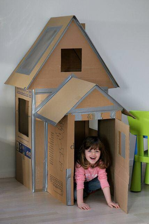 Recycled Cardboard Kids Houses