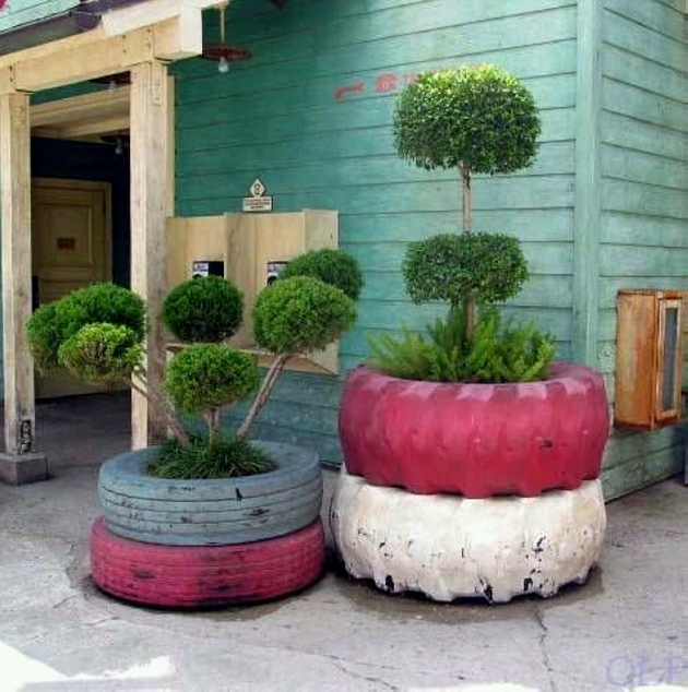 Recycled Used Tyres Planters