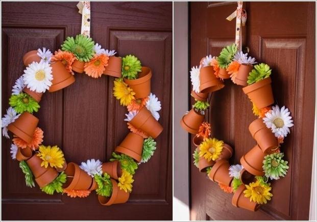 Small Decorative Pots Wreath