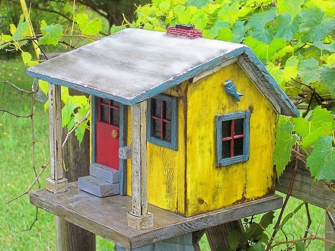 Upcycled Bird House