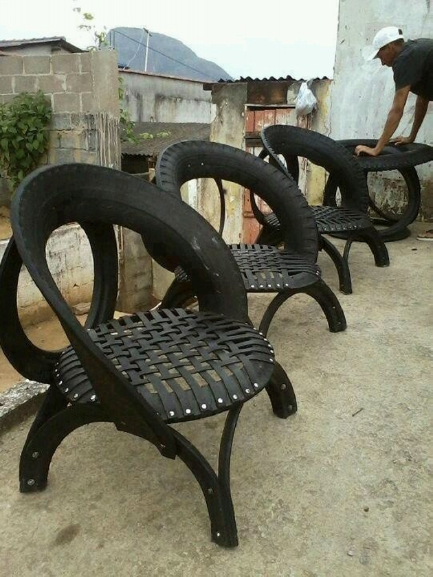 Used Tyres Upcycled Furniture