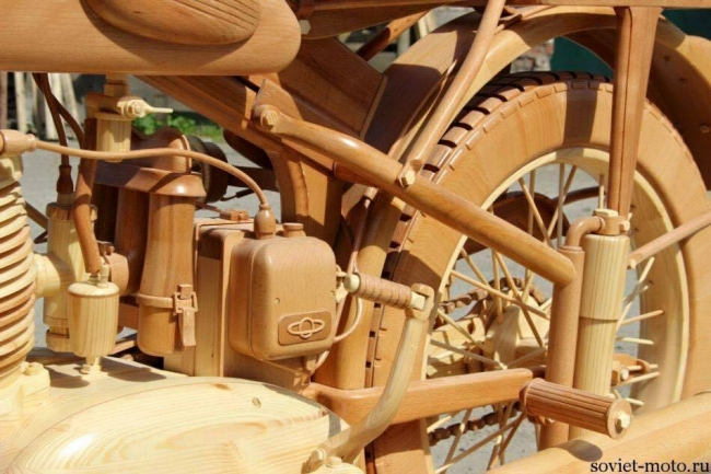 Wood Carved Motorcycle