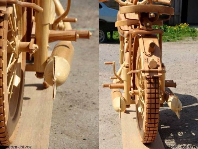 Wood Motorcycle Handcrafats
