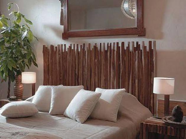Wood Upcycled Bed Headboard