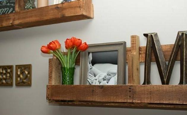 Wood Upcycled Pallet Shelf