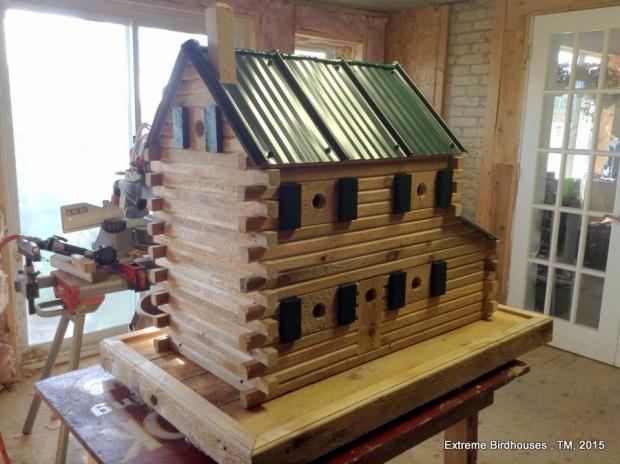 Wooden Birdhouse Idea