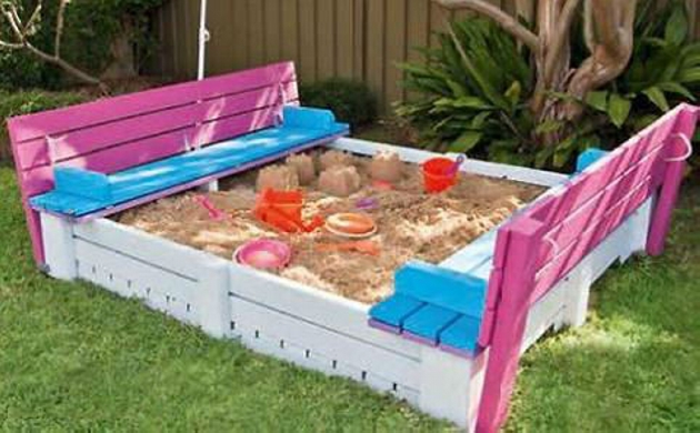 Wooden Pallet Backyard Sandbox