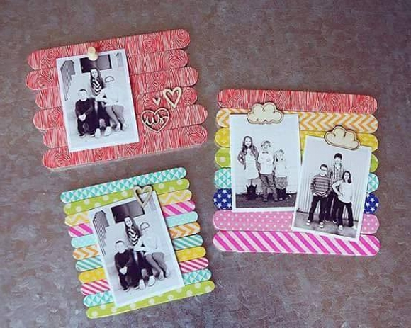 Wooden Sticks Upcycled Photo Frame