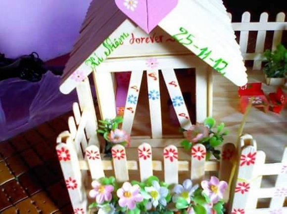 Wooden Sticks Upcycled Playhouse