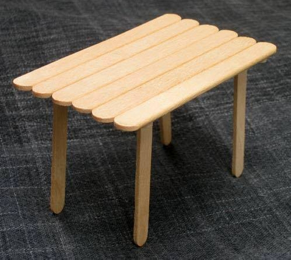 Wooden Sticks Upcycled Table