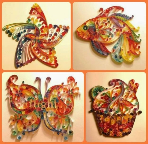 Quilling art ideas upcycle art for How to quilling designs