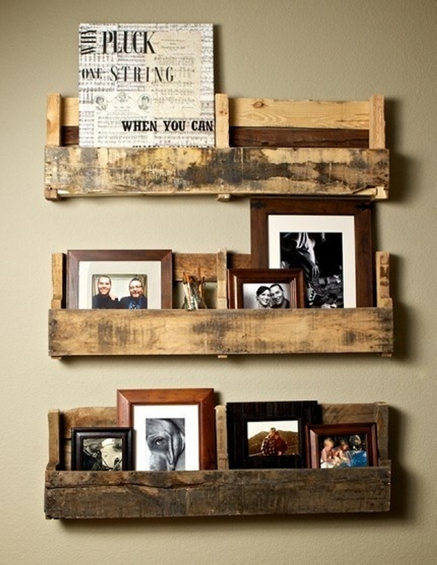 upcycled pallets shelves