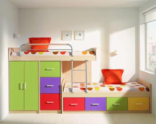 Bunk bed designs for kids room upcycle art for Bunk bed design ideas