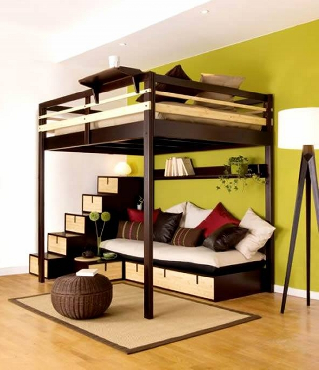 Bunk bed designs for kids room upcycle art for Futon kids room