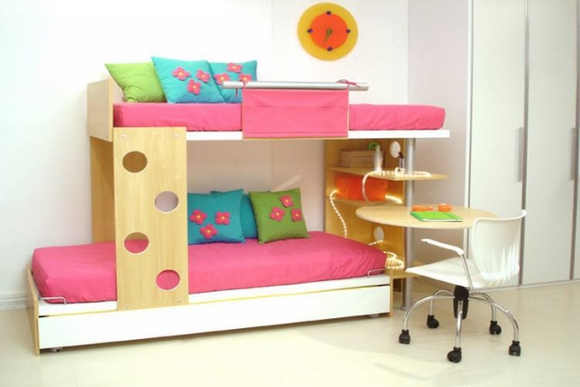 Bunk Bed and study table Kids Room