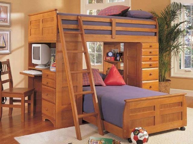 Bunk Bed with study table