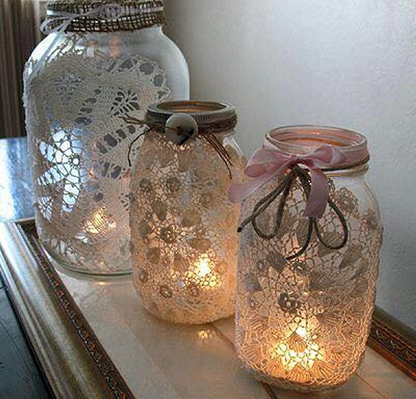 Glass Jars Recycled Decor Crafts