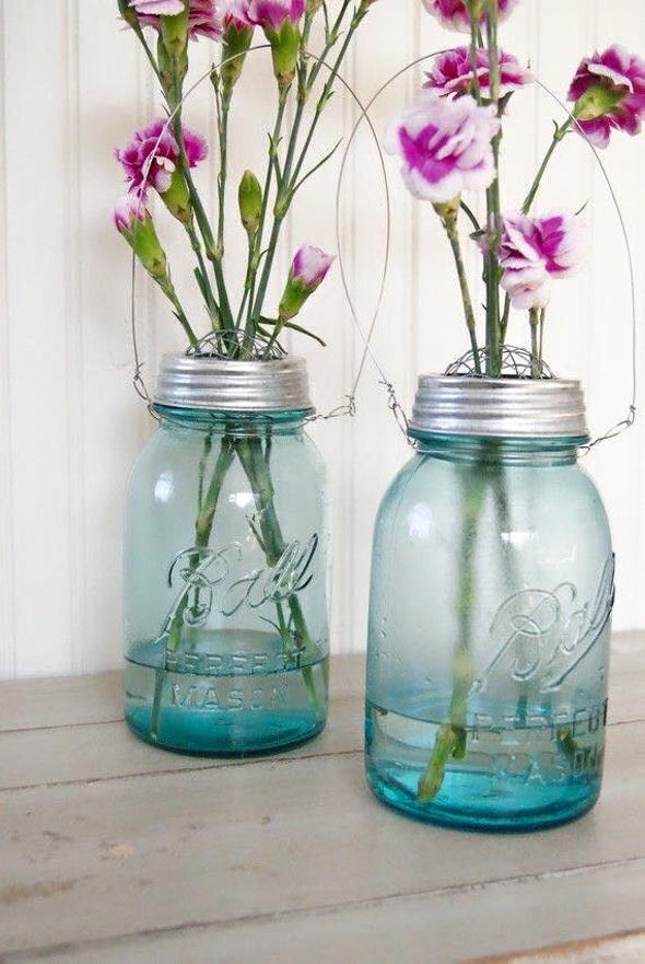 Glass Jars Reused for Decor Crafts