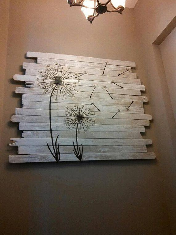 Recycled pallet wood decor crafts upcycle art - Scrap wood decorated house ...