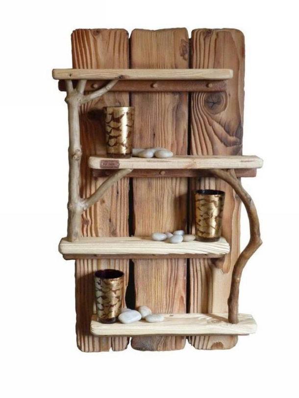 Pallet Wood Shelf Decor Craft