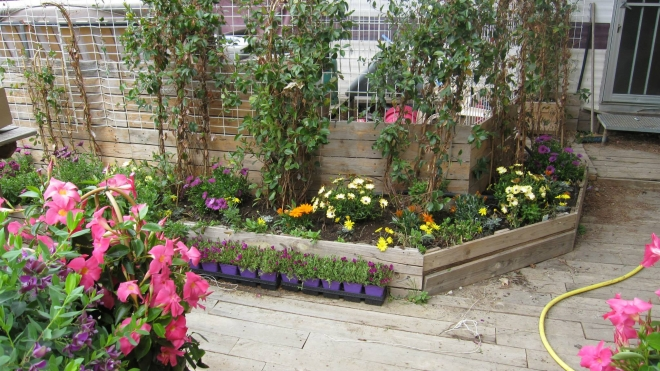 Pallets Recycled Planters