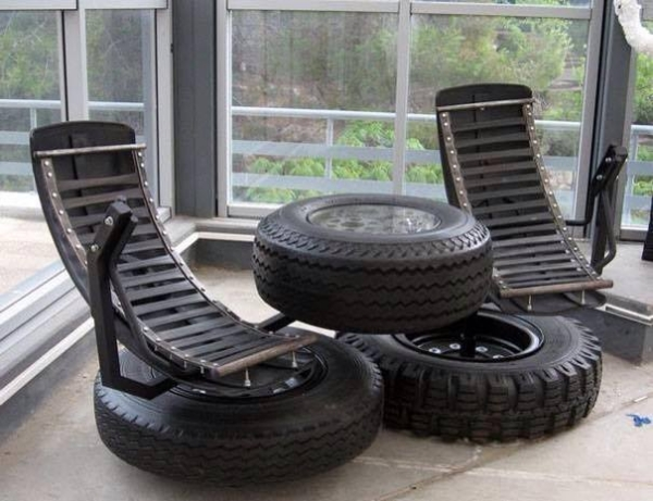 Recycling Project with Tyres