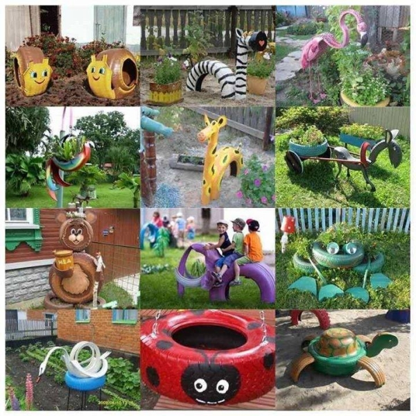 Recycling Project with Used Tyres