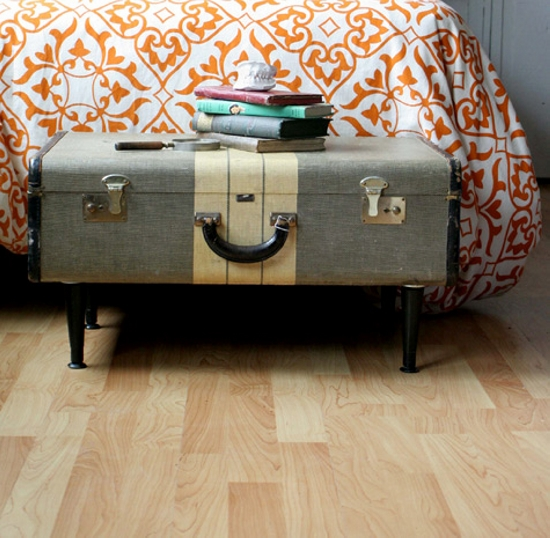 suitcase side table ideas upcycle art