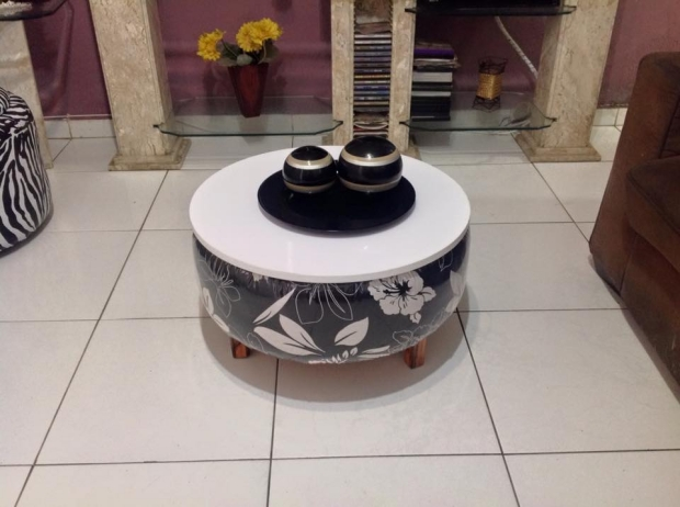Used Tyres Coffee Table