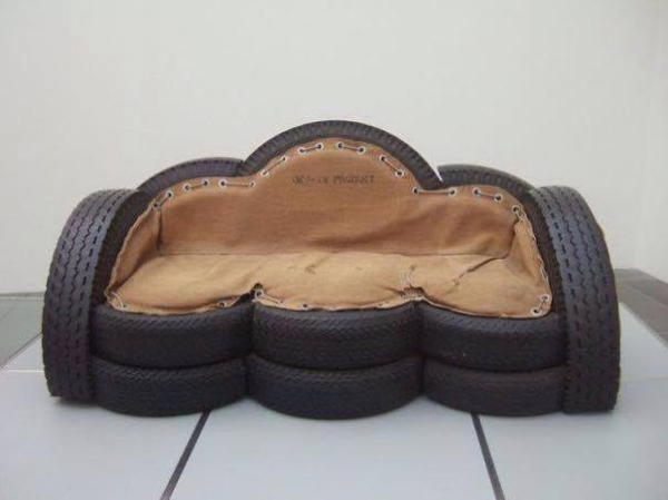Used Tyres Couch Recycling Project