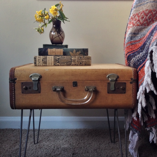 Suitcase Side Table Ideas | Upcycle Art
