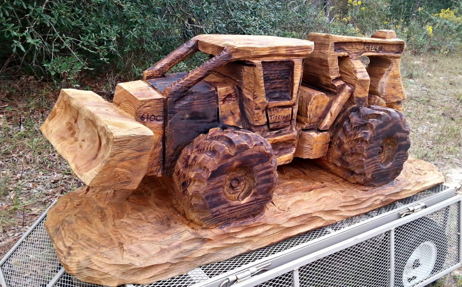 Wood Art Sculpture