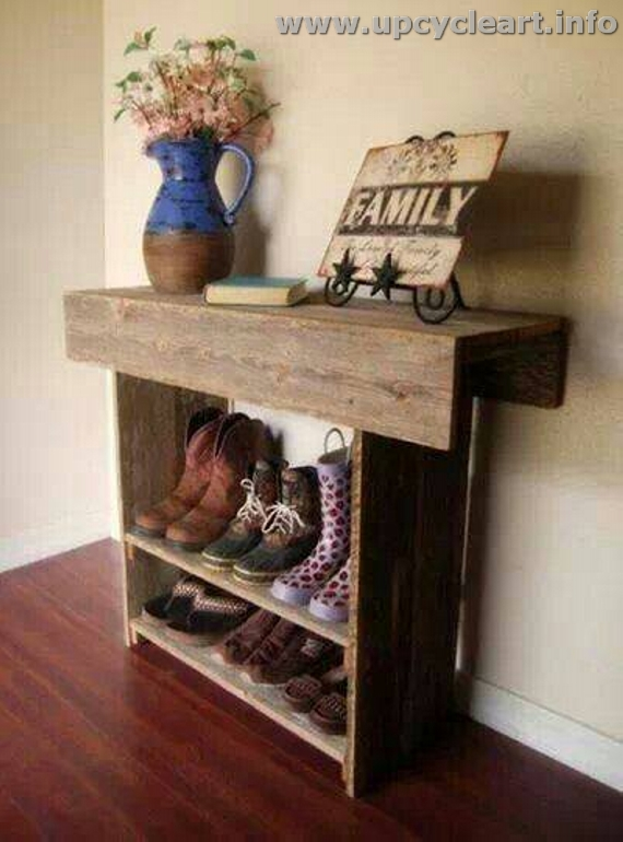Wood Pallet Shoe Racks
