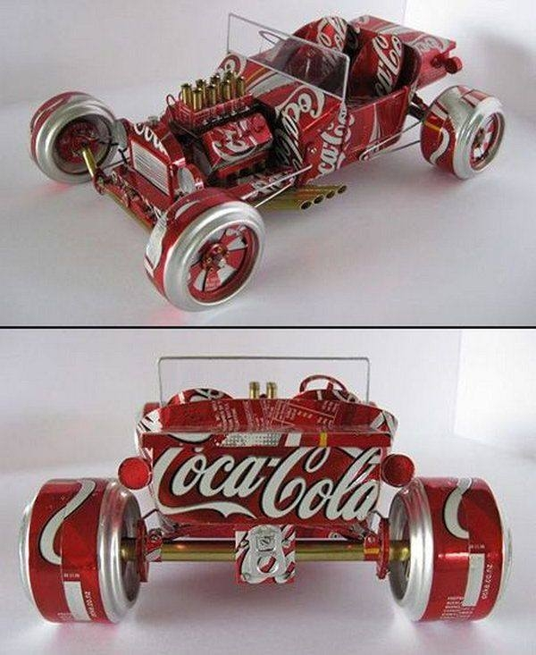 Aluminum Cans Recycled Kids Car