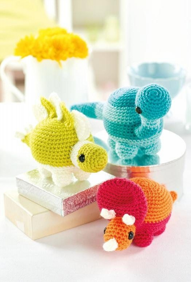 Mini Dinosaur Knitting Pattern : Amigurumi Crochet Patterns / Designs Upcycle Art