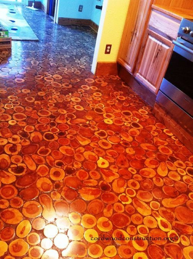 Awesome Cordwood Flooring