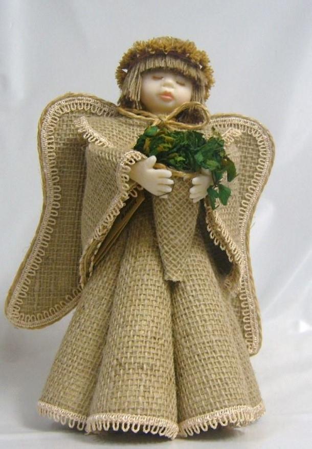 Burlap Little Girl Toy