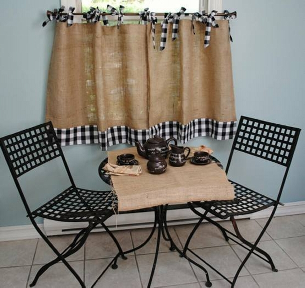 Burlap Upcycled Curtains
